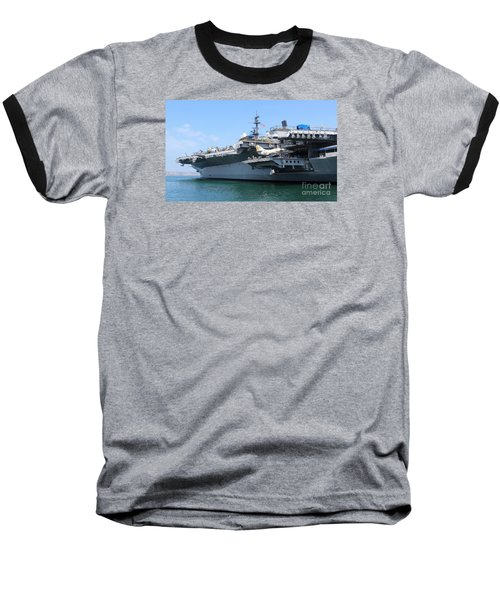 Baseball T-Shirt featuring the photograph Uss Midway Carrier by Cheryl Del Toro
