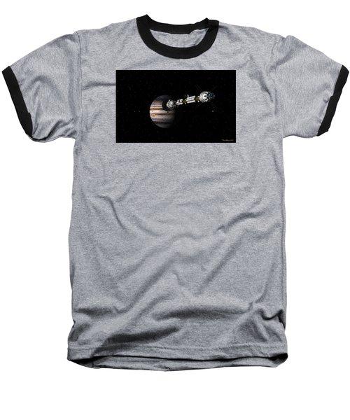 Baseball T-Shirt featuring the digital art Uss Savannah Approaching Jupiter by David Robinson