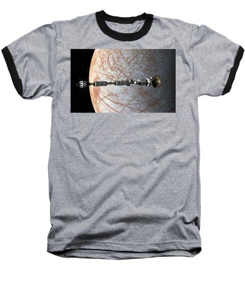 Uss Savannah Entering Orbit Around Europa Baseball T-Shirt
