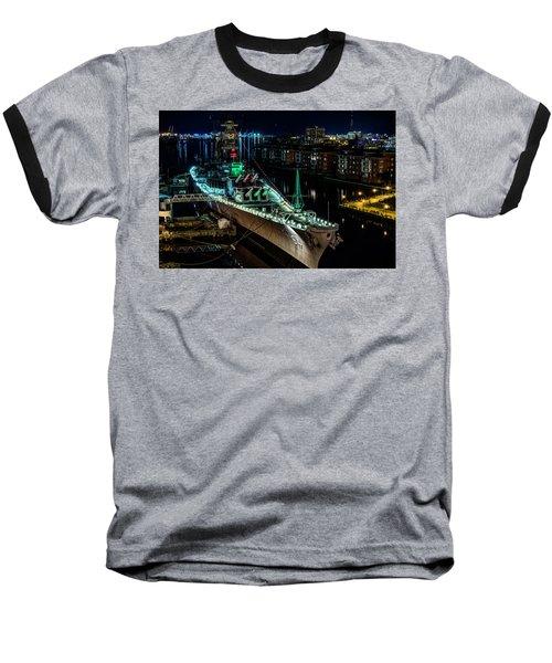 Uss Wisconsin Baseball T-Shirt
