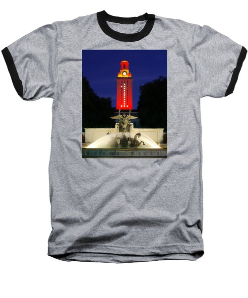 Ut Austin Tower Orange Baseball T-Shirt