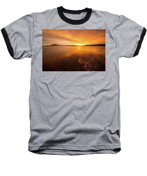 Baseball T-Shirt featuring the photograph Utah Lake Sunset by Wesley Aston