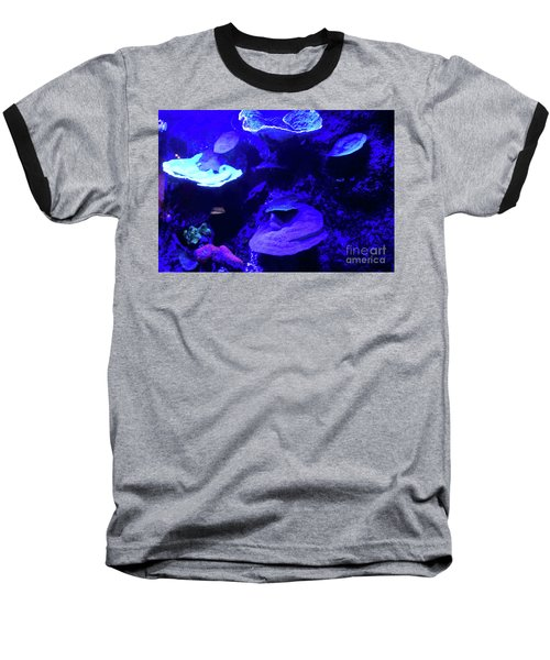 Baseball T-Shirt featuring the photograph Uw Neon Coral by Francesca Mackenney