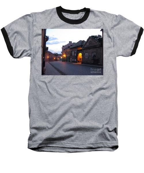 Uzupis Street. Old Vilnius. Lithuania. Baseball T-Shirt by Ausra Huntington nee Paulauskaite
