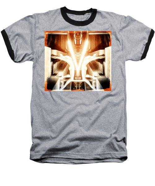 V For Victory Baseball T-Shirt by Andrea Barbieri