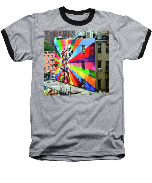 V - J Day Mural By Eduardo Kobra # 2 Baseball T-Shirt