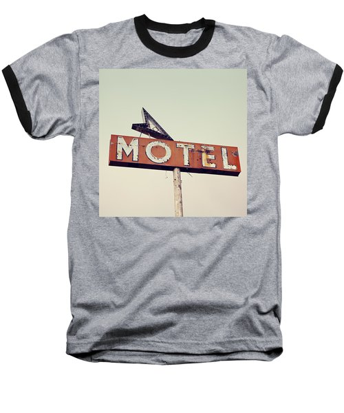 Vacancy Vintage Motel Sign Baseball T-Shirt