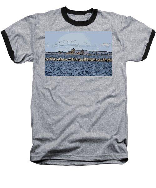 Vaennern Lake Baseball T-Shirt by Thomas M Pikolin