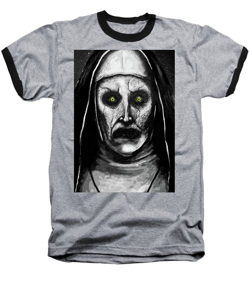 Valak The Demon Nun Baseball T-Shirt by Taylan Apukovska