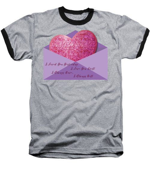 Baseball T-Shirt featuring the digital art Valentine 05 by Ericamaxine Price
