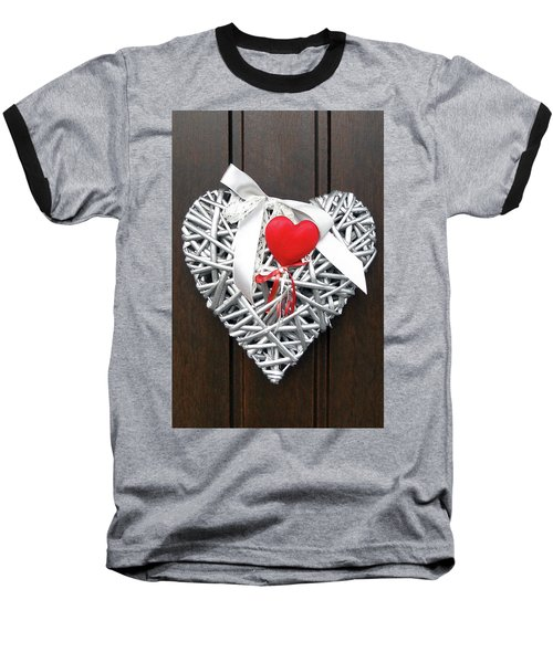 Baseball T-Shirt featuring the photograph Valentine Heart by Juergen Weiss