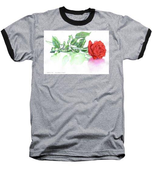 Valentine Rose Baseball T-Shirt