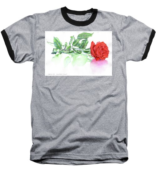 Valentine Rose Baseball T-Shirt