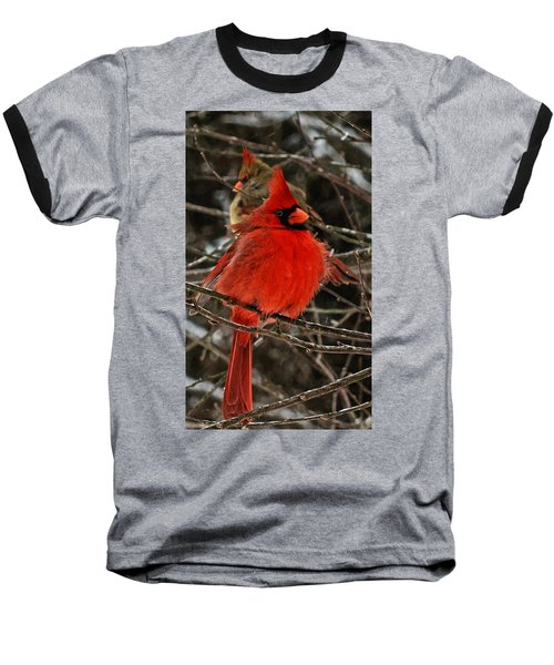Baseball T-Shirt featuring the photograph Valentines by John Harding
