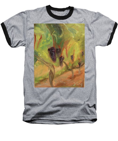 Baseball T-Shirt featuring the painting Valhalla Vineyard by Donna Tuten