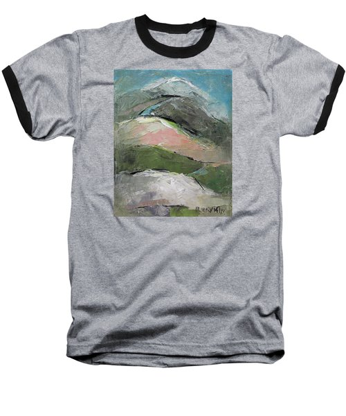 Baseball T-Shirt featuring the painting Valley by Becky Kim