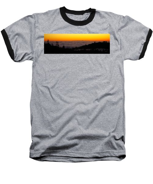 Valley Fog Twilight Baseball T-Shirt
