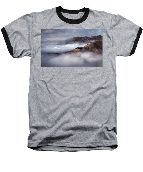 Valley In The Clouds Baseball T-Shirt by Brad Grove