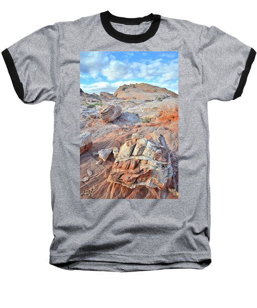 Valley Of Fire Boulders Baseball T-Shirt by Ray Mathis