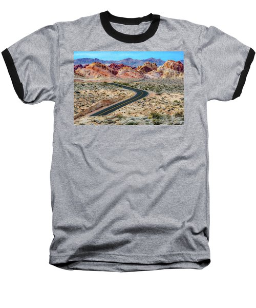 Road Through The Valley Of Fire Baseball T-Shirt