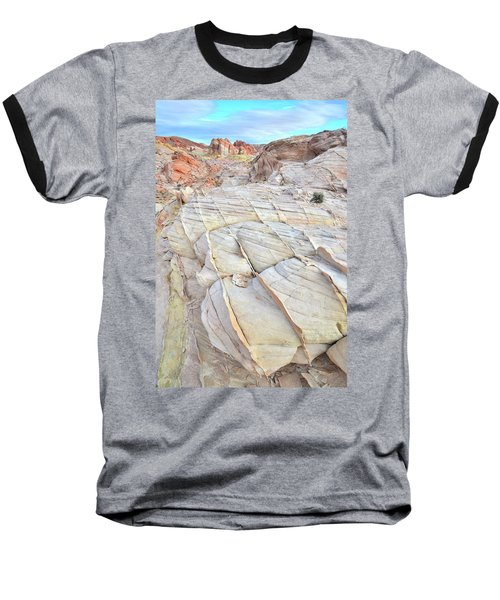 Valley Of Fire Sandstone Baseball T-Shirt by Ray Mathis