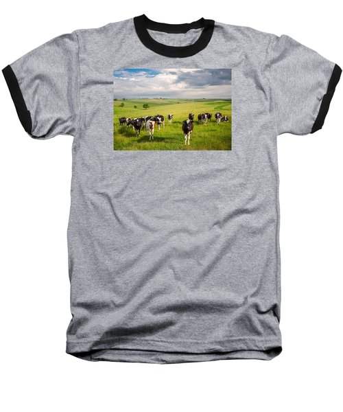 Valley Of The Cows Baseball T-Shirt