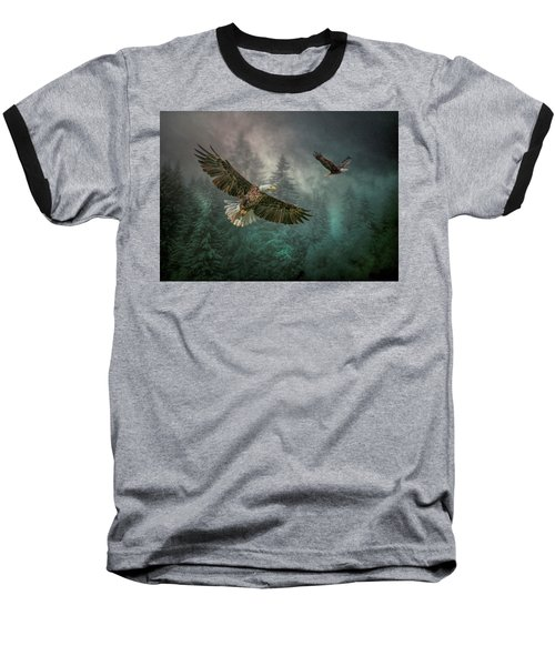 Valley Of The Eagles. Baseball T-Shirt by Brian Tarr