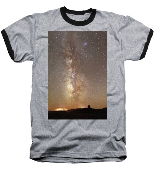 Valley Of The Gods Milky Way Baseball T-Shirt