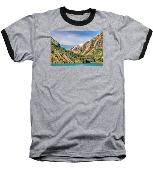 Valley Of Trees Baseball T-Shirt by Lewis Mann