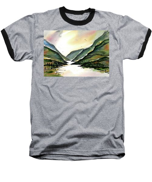 Baseball T-Shirt featuring the painting Valley Of Water by Terry Banderas