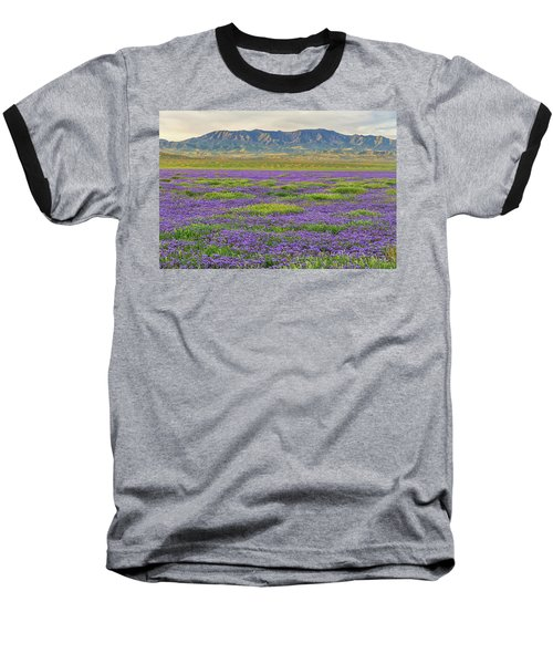 Valley Phacelia And Caliente Range Baseball T-Shirt by Marc Crumpler