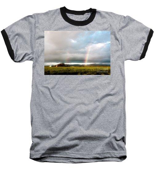 Valley Rainbows 1 Baseball T-Shirt by Janie Johnson