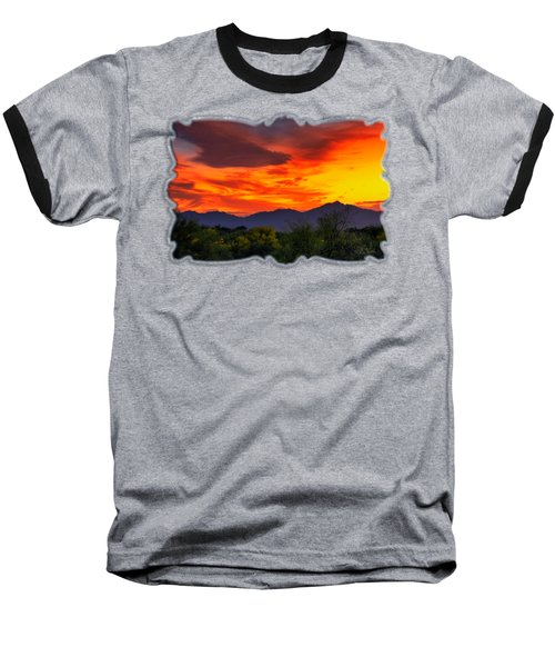 Valley Sunset H32 Baseball T-Shirt by Mark Myhaver
