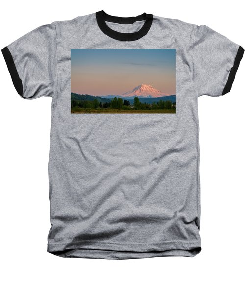 Baseball T-Shirt featuring the photograph Valley Sunset Of Mt Rainier by Ken Stanback