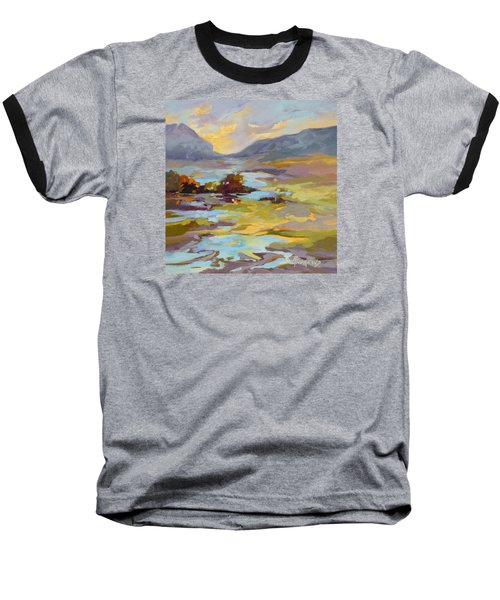 Baseball T-Shirt featuring the painting Valley Vantage Point by Rae Andrews
