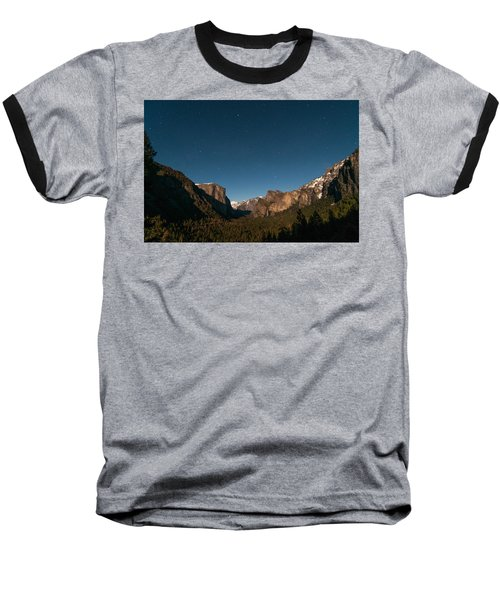 Valley View By Moon Light Baseball T-Shirt