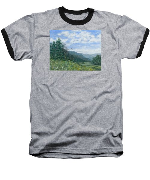 Baseball T-Shirt featuring the painting Valley View by Kathleen McDermott