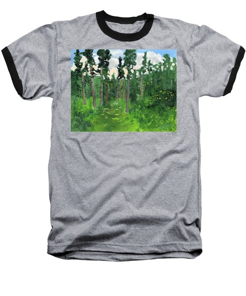 Valley Walk Baseball T-Shirt by Rodger Ellingson