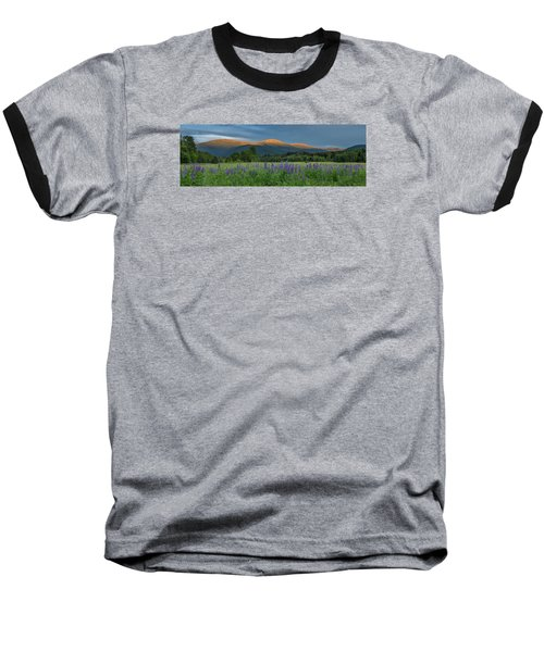Valley Way Lupine Sunset Baseball T-Shirt