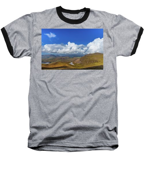 Valleys And Mountains In County Kerry On A Summer Day Baseball T-Shirt by Semmick Photo
