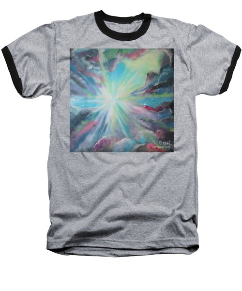 Baseball T-Shirt featuring the painting Inspire by Stacey Zimmerman