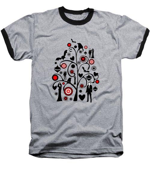 Vampire Art Baseball T-Shirt