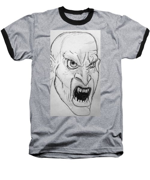 Vampire-y Ghouly Sort Of Thing Baseball T-Shirt by Yshua The Painter