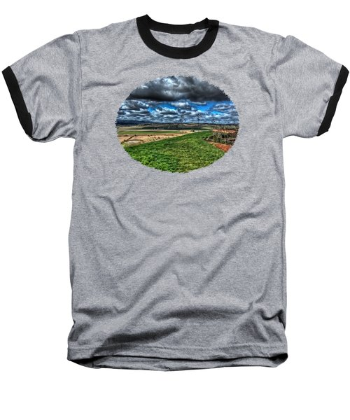 View From The Van Duzer Vineyards  Baseball T-Shirt