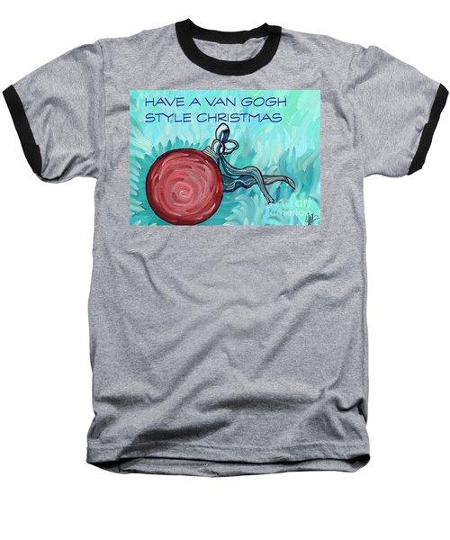 Van Gogh Style Xmas  Baseball T-Shirt