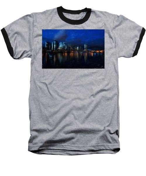 Vancouver At Dusk Baseball T-Shirt
