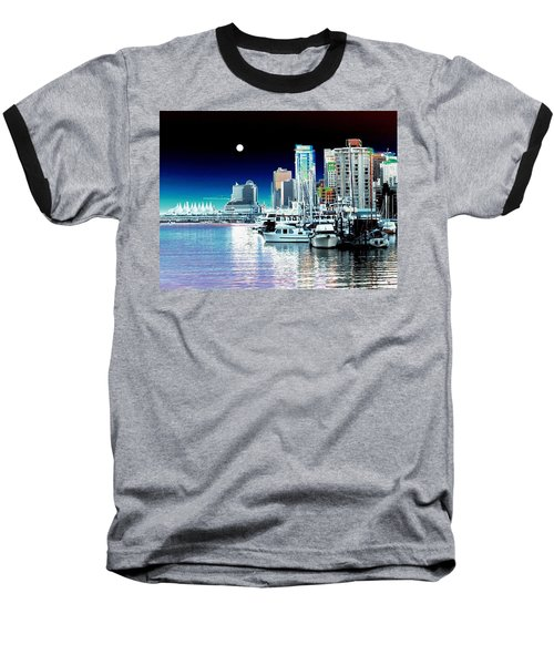 Vancouver Harbor Moonrise  Baseball T-Shirt