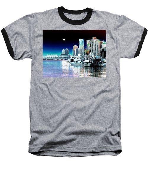 Vancouver Harbor Moonrise  Baseball T-Shirt by Will Borden