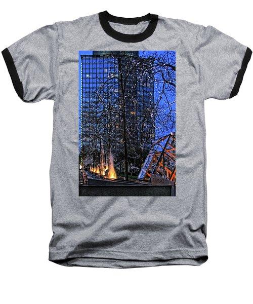 Vancouver - Magic Of Light And Water No 1 Baseball T-Shirt by Ben and Raisa Gertsberg