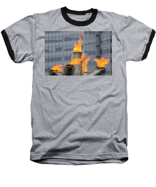 Vancouver Olympic Cauldron 2 Baseball T-Shirt